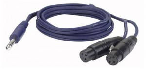 Kabel Audio 2 x XLR żeńskie 3 pin – Jack stereo